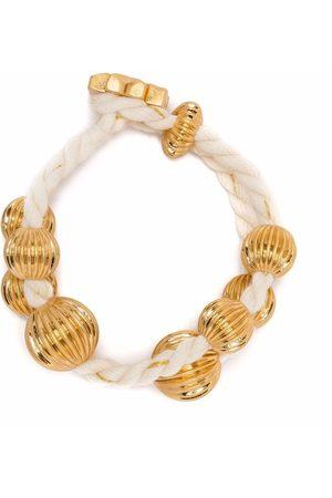 Tory Burch Roxanne 18kt gold-plated wrap bracelet