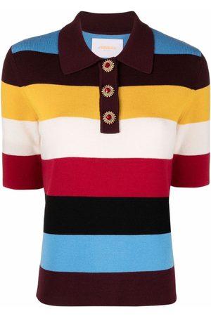 La DoubleJ Colour-block polo shirt