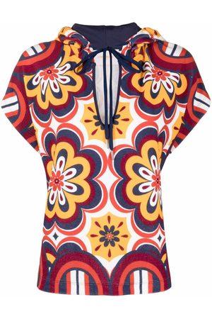 La DoubleJ Terry geometric print blouse