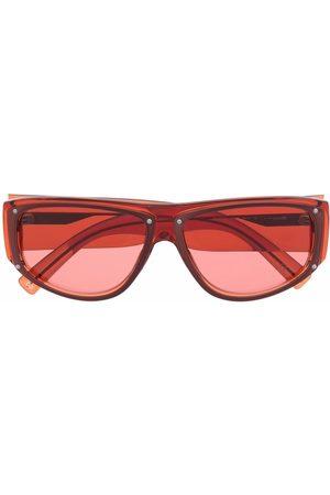 Givenchy Logo-plaque square-frame sunglasses