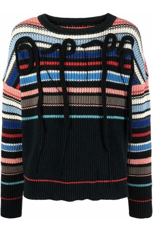 OTTOLINGER Striped embroidered knitted jumper