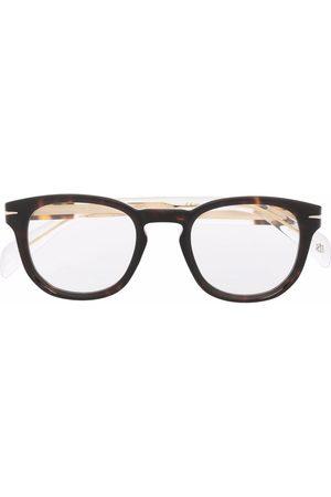 DB EYEWEAR BY DAVID BECKHAM Tortoiseshell-effect cat-eye glasses
