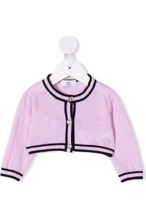 Chiara Ferragni Cropped wool-cashmere cardigan
