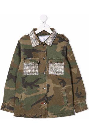Philipp Plein Camouflage-print rhinestone overshirt