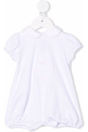 LITTLE BEAR Teddy bear-embroidered stretch-cotton shorties