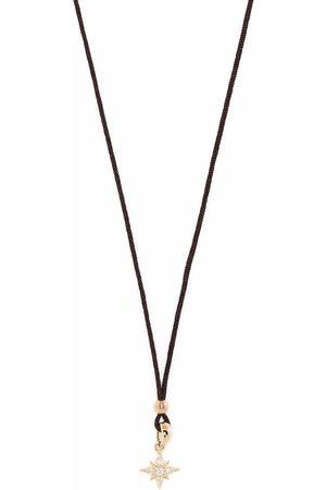 Mizuki 14kt yellow diamond star pendant cord necklace