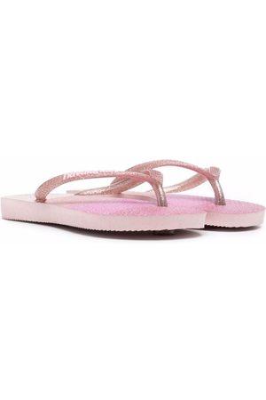 Havaianas Panelled flat flip flops