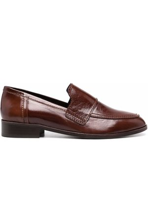 Tila March Hickory almond-toe leather loafers
