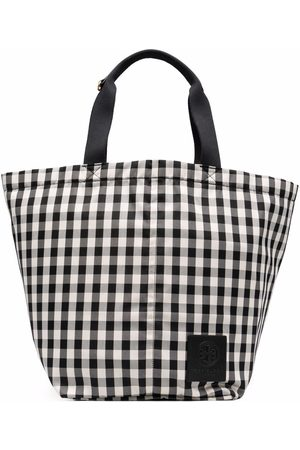 Tory Burch Gingham-check tote bag