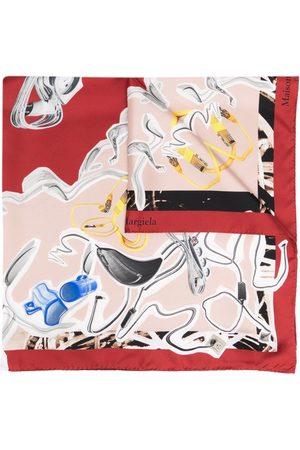 Maison Margiela Abstract-print silk scarf