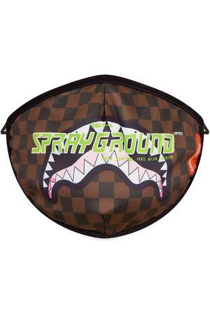 Sprayground Logo-print checked face mask