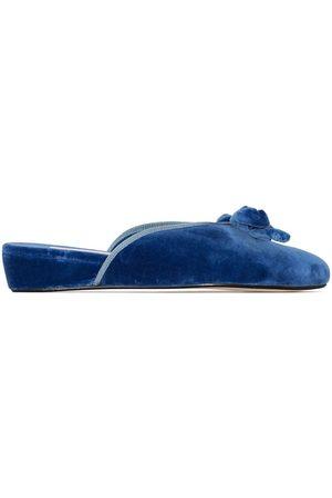 Olivia Morris At Home Daphne velvet slippers