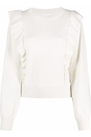 See by Chloé Ruffled knitted jumper