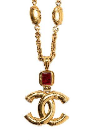 CHANEL 1994 stone-embellished CC necklace