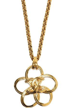 CHANEL 1996 CC floral pendant necklace