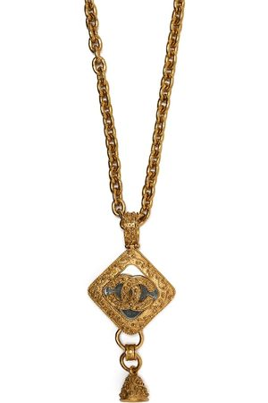CHANEL 1994 CC Bell charm chain necklace