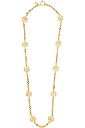 CHANEL CC charms chain necklace