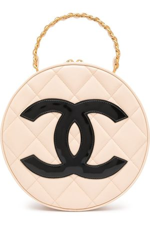 CHANEL 1995 CC patch round tote bag