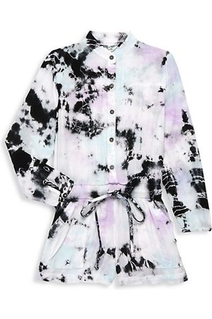 Hard Tail Little Girl's & Girl's Tie-Dye Button-Up Romper