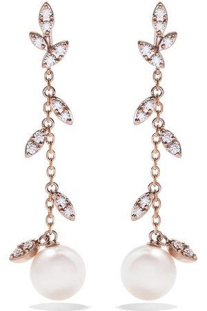 Tasaki 18kt rose and yellow Kugel diamond earrings