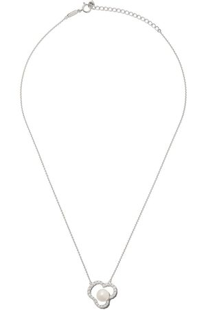 Tasaki 18kt white gold Chants diamond and Akoya pearl pendant