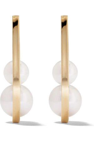 Tasaki 18kt yellow Kinetic pearl earrings