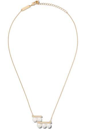 Tasaki 18kt yellow Balance step Akoya pearl pendant