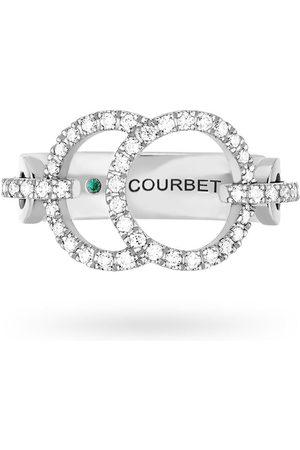 COURBET 18kt white gold Celeste full pavé diamond set ring
