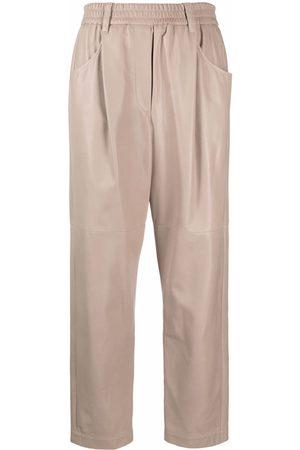 Brunello Cucinelli Straight-leg leather trousers