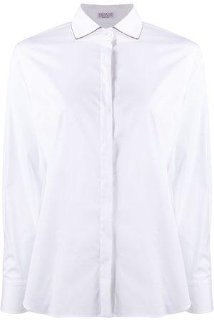 Brunello Cucinelli Monili chain-embellished long-sleeved shirt