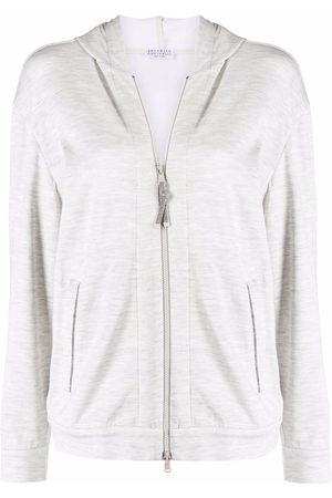 Brunello Cucinelli Long-sleeved zip-up hoodie