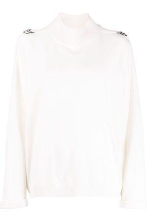 Brunello Cucinelli Women Jumpers - Eyelet-embellished cashmere jumper