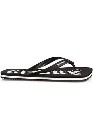 Palm Angels New Rubber Logo Flip Flops