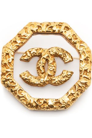 CHANEL Women Brooches - 1993 CC textured-finish brooch