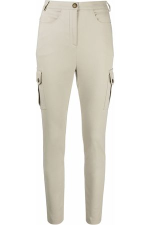 Patrizia Pepe Women Cargo Pants - Cargo-pocket slim-fit trousers