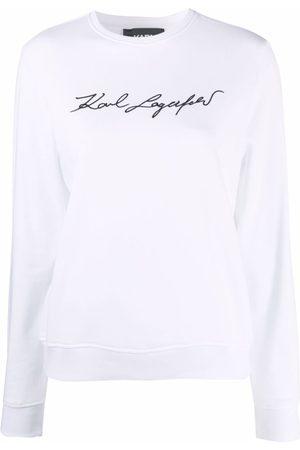 Karl Lagerfeld Women Sweatshirts - Signature logo print sweatshirt