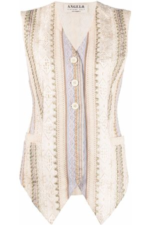 A.N.G.E.L.O. Vintage Cult Women Camisoles - 1990s embroidered motif single-breasted vest