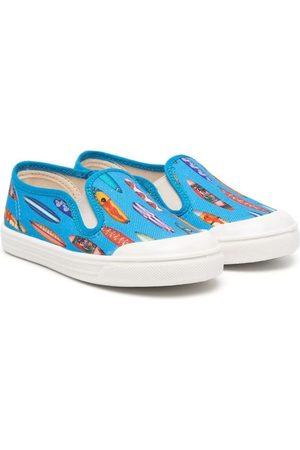 PèPè Boys Sneakers - Dinosaur print slip-on sneakers