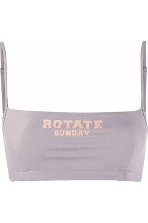 ROTATE Logo-print bra top