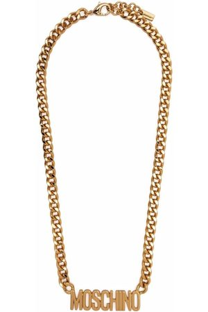 Moschino Logo-lettering chain necklace