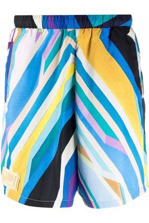 Formy Studio Stripe-print high-waisted shorts