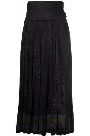 A.N.G.E.L.O. Vintage Cult Women Midi Skirts - 2000s striped gathered midi skirt