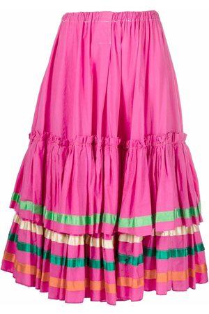 A.N.G.E.L.O. Vintage Cult Women Midi Skirts - 1980s layered flared midi skirt