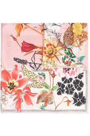 Salvatore Ferragamo Floral embroidered silk scarf
