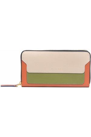 Marni Women Wallets - Colour-block zip leather wallet