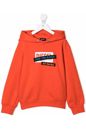 Diesel Girls Hoodies - Logo print hoodie