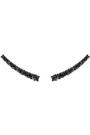 Alinka Women Earrings - Dasha black diamond small slider earrings