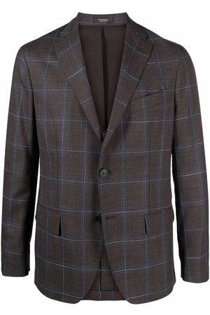 PESERICO SIGN Check-print single-breasted blazer