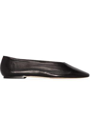 Aeyde Kirsten leather ballet pumps