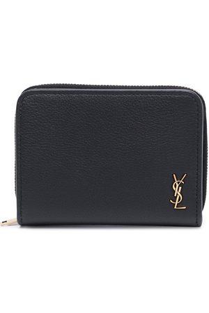 Saint Laurent Logo-plaque zip-fastening wallet